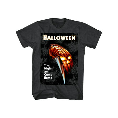 Halloween Scary Horror Slasher Movie Film Night He Came Home Adult T-Shirt Tee](Scary Family Films Halloween)