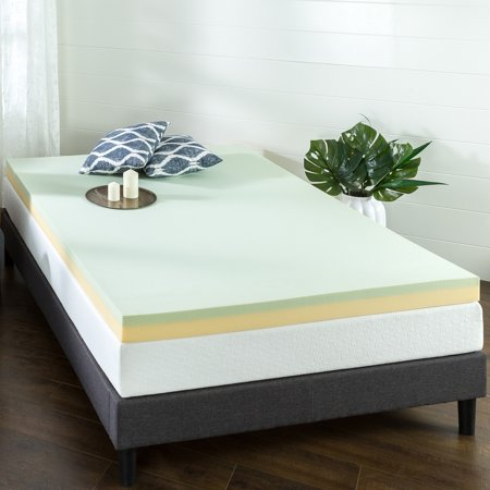 Priage  4 in. Green Tea Memory Foam Mattress Topper - Toppers Green Bay Wi