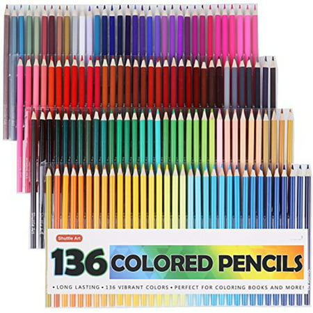 Colored Pencils For Grown Up Coloring Shuttle Art 136 Colored PencilsColored Pencil Set for