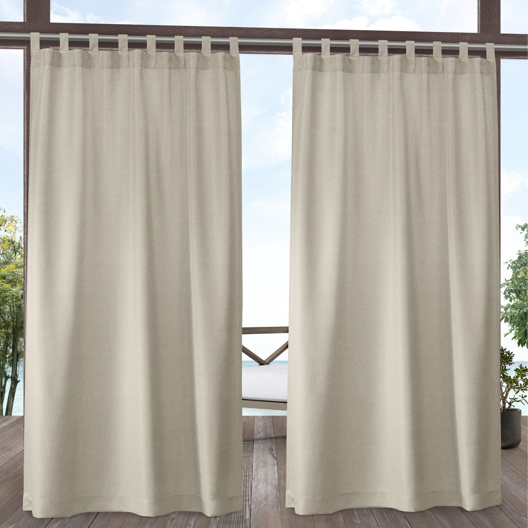Exclusive Home Curtains Biscayne Indoor/Outdoor Two Tone