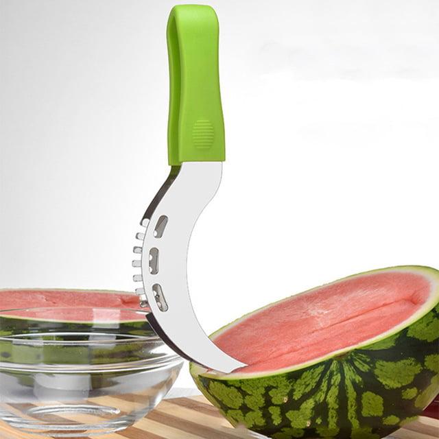 Jeobest Stainless Steel Watermelon Slicer - Watermelon Knife Cutter Slicer Server - Watermelon Slicer Cutter - Stainless Steel Watermelon Slicer PP Handle Melon Slicer Fruit Corer Cutter Tool MZ