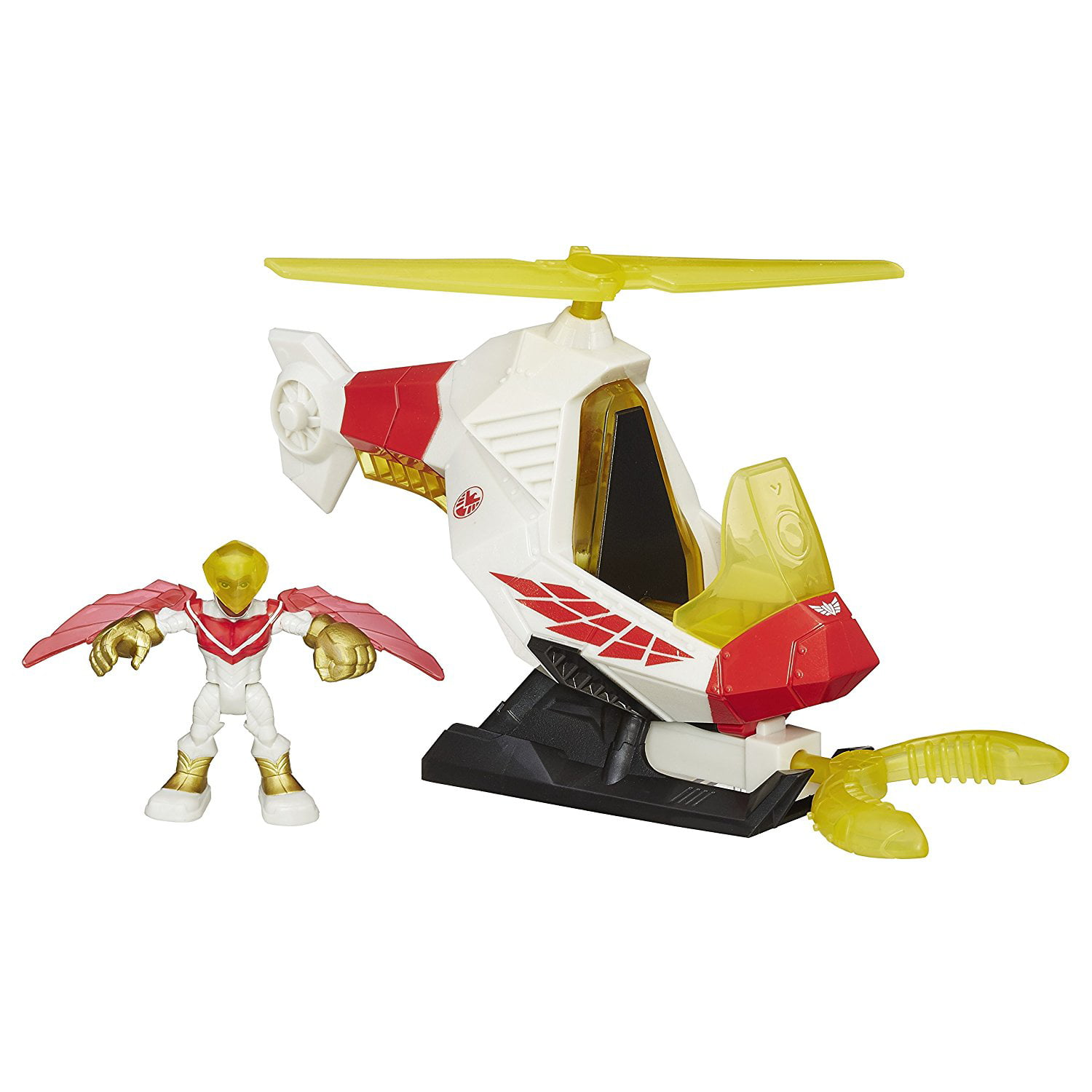 Heroes Marvel Super Hero Adventures Talon Copter with Marvels Falcon Action Figure, Little... by