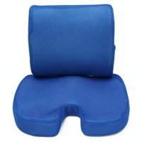 Memory Foam Luxury Seat Cushion Tailbone Lumbar Back Support Seat Orthopedic Design to Relieve Back, Sciatica, Coccyx and Tailbone Pain for Office Desk Chair
