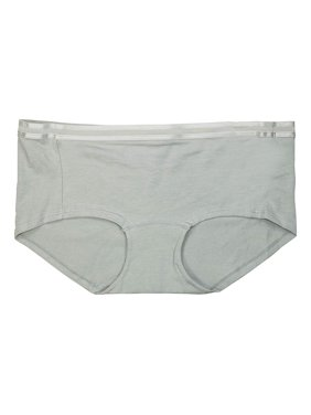 58f28ec0ac68 Product Image Jockey Allure Solid Color Luxuriously Soft Cotton Boyshort  Hip Hugger Panty Light Linen Green M