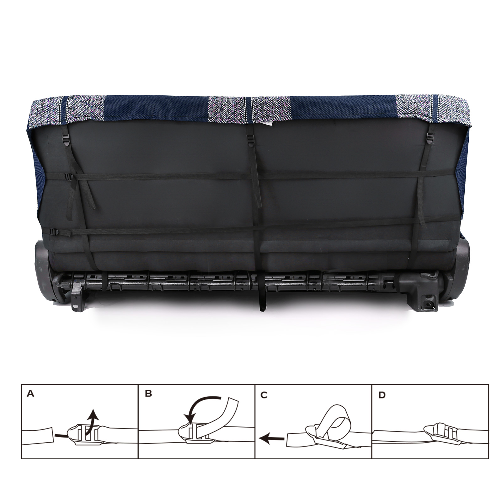 Leader Accessories Saddle Blanket Blue Full Size Pickup Trucks Bench Seat Cover Universal Work with Bench Seats