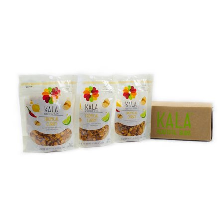 Kala Bean Snacks  Tropical Curry  5 Oz  3 Ct