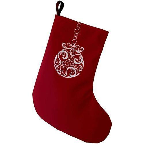 E By Design Simply Daisy, 9 x 16, Fancy - Bulb, Decorative Holiday Print Stocking