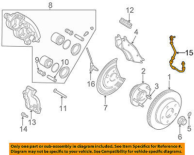 Fits Dodge Ram 1500 2002-2004 Brake Line; Brake Hydraulic Hose Brakes Hoses