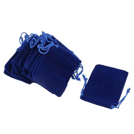 School Dorm Velvet Sundries Pen Eraser Ring Holder Drawstring Bag Blue 20 - Ring Eraser