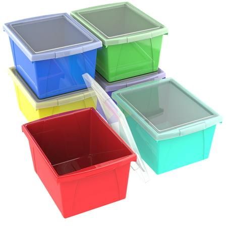 Storex 4 Gallon 15l Classroom Storage Bin With Lid