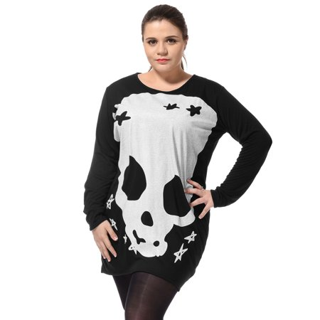 5f44b16c5c8bb Women Plus Size Black Long Sleeves Stylish Tunic Tee Shirt 3X - image 1 of  6 ...