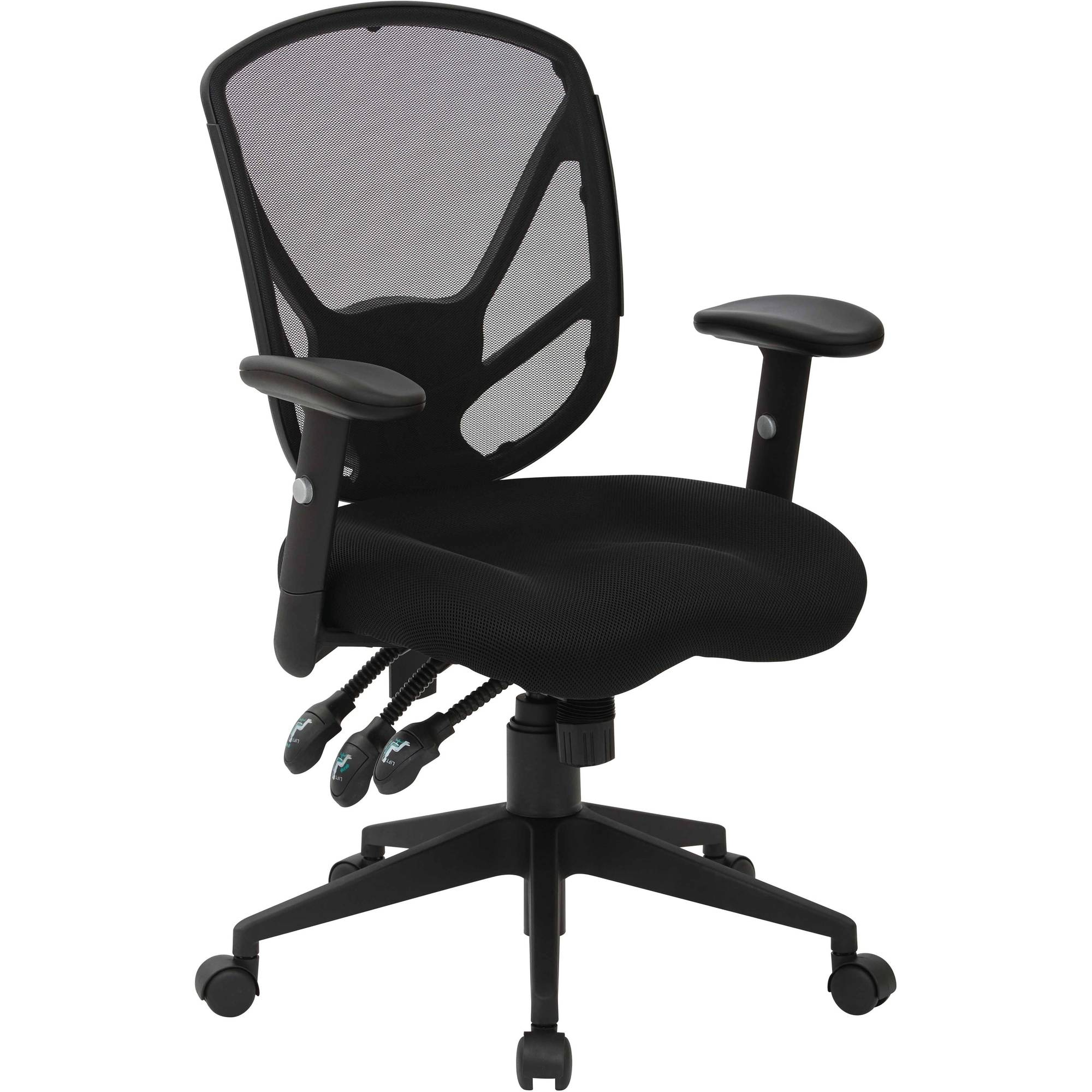 Office Star Black Office Chair with Saddle Seat Design