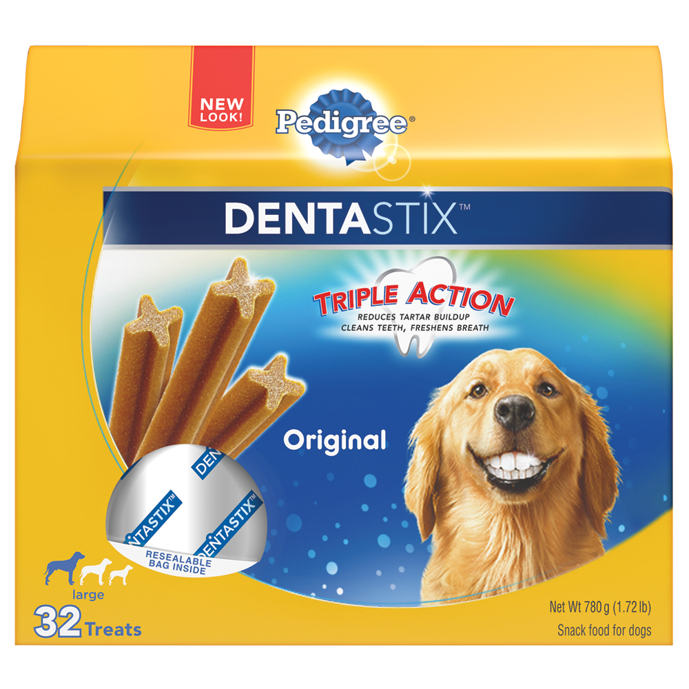 PEDIGREE DENTASTIX Original Large Treats for Dogs - 1.72 Pounds 32 Treats