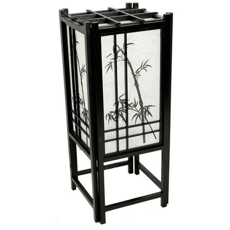 Oriental Furniture Bamboo Tree Lamp 18 Inch - Black](Oriental Lamp)