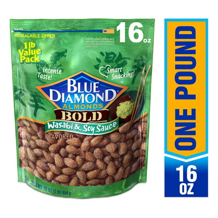 Blue Diamond Almonds, Wasabi & Soy Sauce, 16 oz Bag