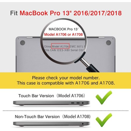 MoKo MacBook Pro 13 Case 2018/2017/2016 Released A1989/A1706/A1708, Hard Shell Case Slim PC Protective Cover for Newest - image 2 of 5