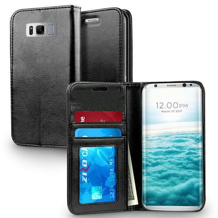 big sale e2543 bcc28 Samsung Galaxy S8 / S8 Plus Case, Zizo Wallet Case - Flap Pouch w/ Card  Holder
