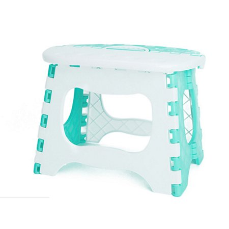 Jeobest Home Outdoor Plastic Portable Sturdy Folding Step Stool Mini Seat Small Chair MZ (Polished Mini Round Step)
