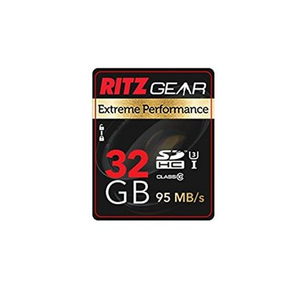 133x Speed Sd Memory Card - Ritz Gear Extreme Performance SD 32GB 95/45 MB/S Read/Write Speed U3 Class-10 SDHC Memory Card