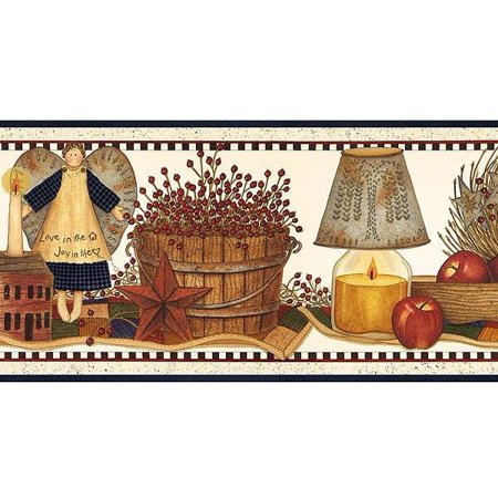 877851 Punched Tin Still Life Wallpaper Border - Fiskars Punch Border