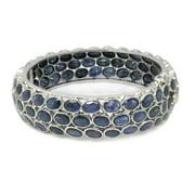 DeBuman De Buman Sterling Silver Natural Sapphire Bangle Bracelet