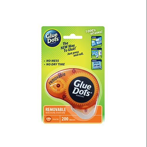 GLUE DOTS INTERNATIONAL Removable Adhesive Dispenser, 3/8-In. 200-Ct.