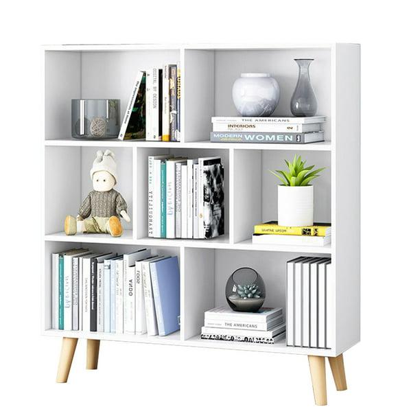 "Stoneway 36"" High Modern Cube Bookcase, Real Wood Feet, 31.5"" W x"