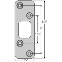 "Kwikset 83223-15 3-5/8"" Radius Deadbolt Strike Satin Nickel Finish"