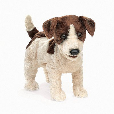 Hand Puppet - Folkmanis - Terrier Jack Russell New Animals Soft Doll Plush 2848](Animal Puppets)