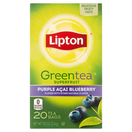 Lipton Sacs Violet Acai Blueberry thé vert, 20 ct
