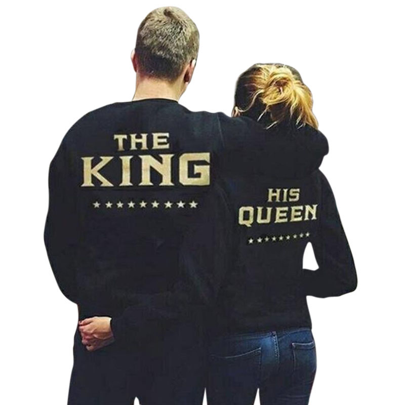 "Pullover Sweatshirt, Coxeer Star Sweater ""The King"" ""His Queen"" Printed Pullover Hoodie Sweatshirts for Lovers & Couples"