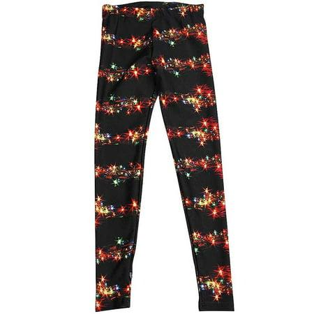 Zara Terez - Little Girls Stretch Legging Black Holiday Lights / 4 - Zara Terez Kids