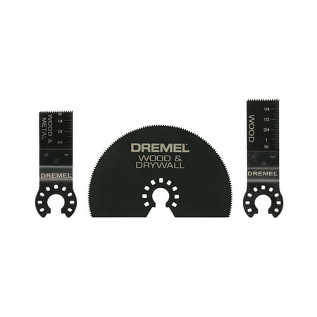 Dremel MM491 Multi-Max Universal Oscillating Tool Cutting Assortment Blades for Wood, Drywall, and Metal,