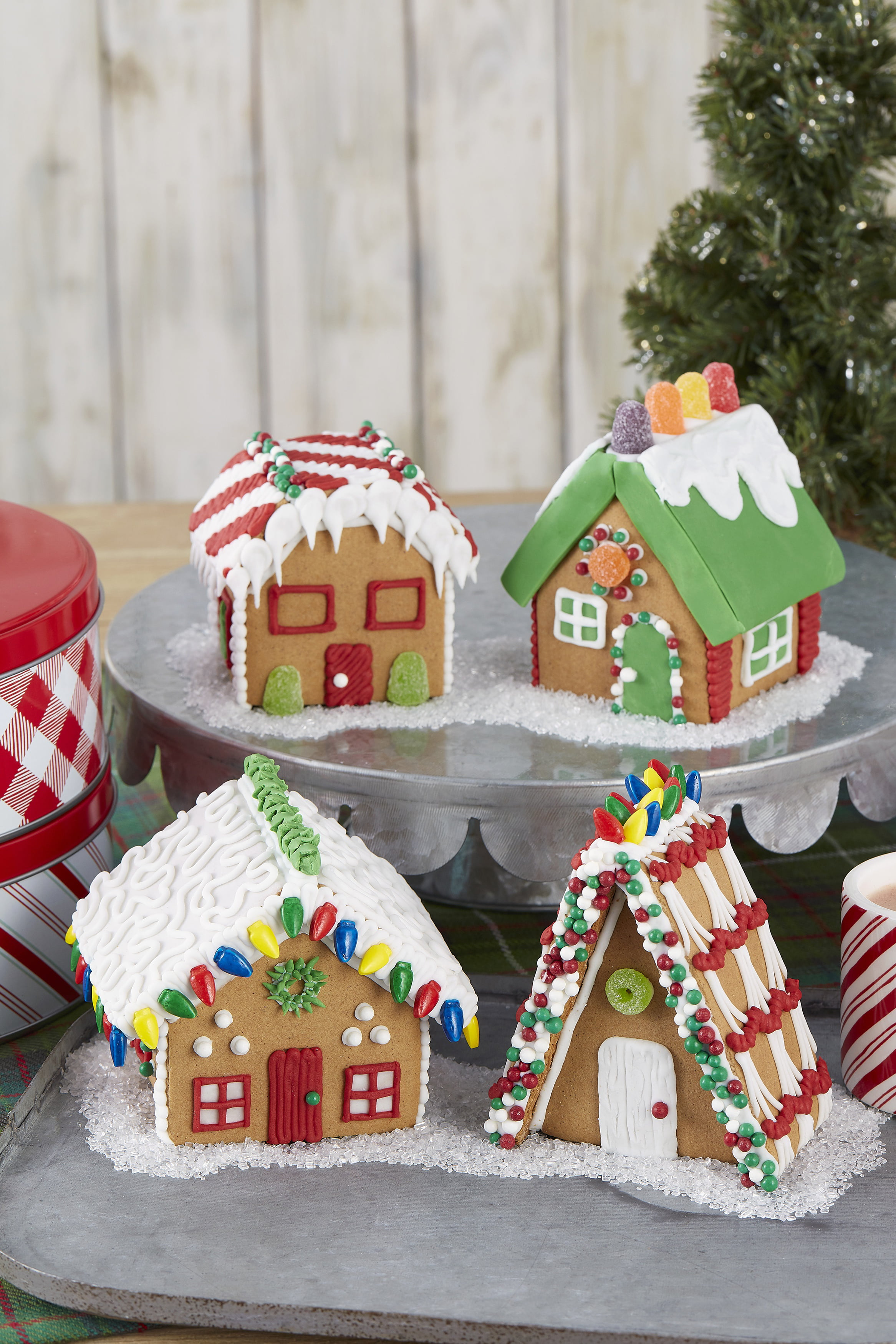 Christmas Gingerbread House Kit.Unassembled Gingerbread House Kit Mini Village