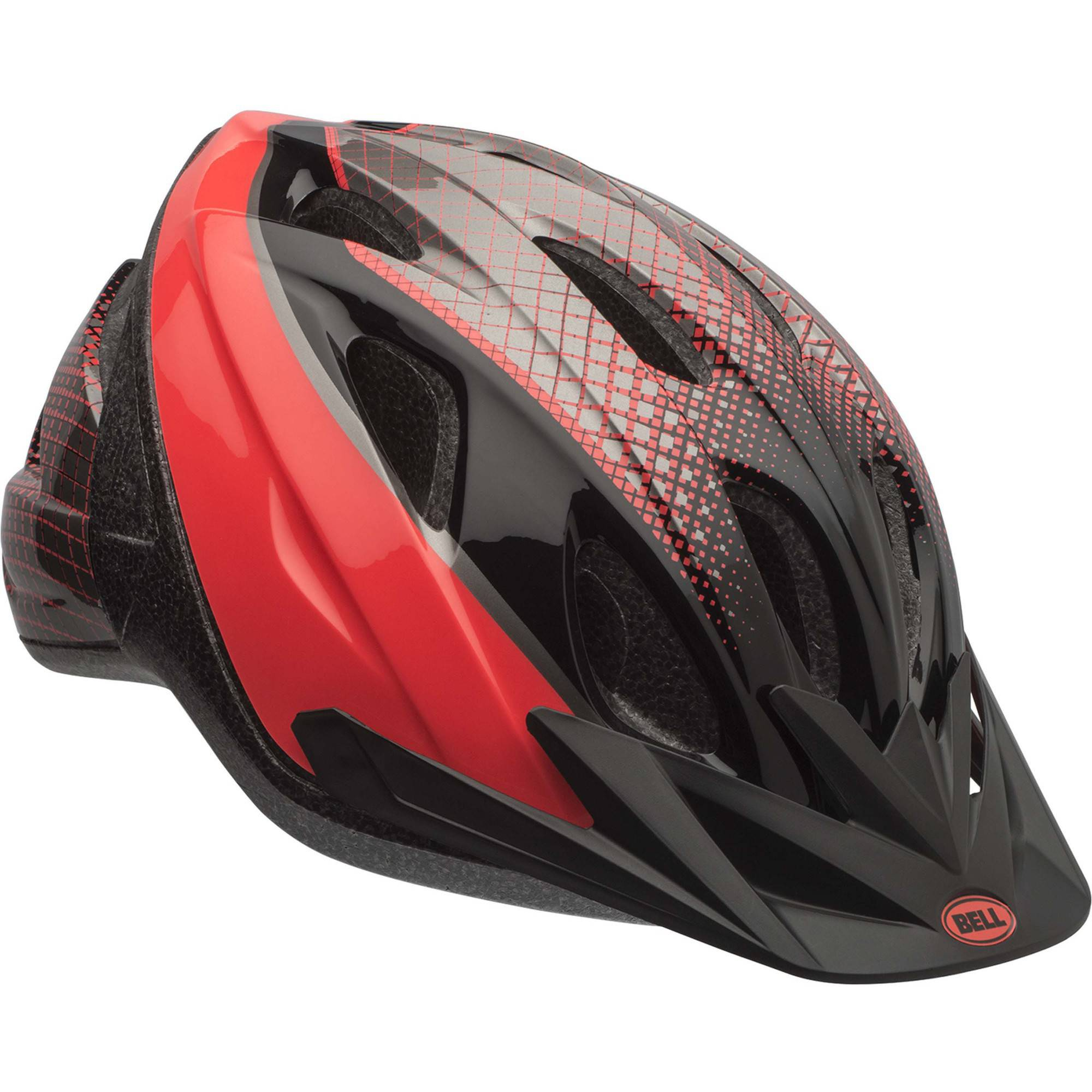 Bell Sports Banter Hex Infrared Youth Bike Helmet, Black/Red