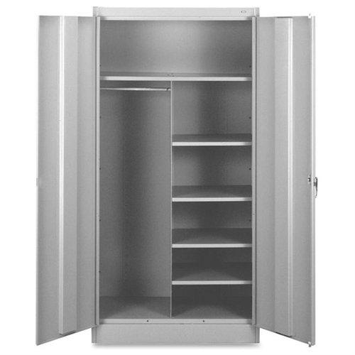 "Tennsco Combination Wardrobe/storage Cabinet - 36"" X 18"" X 72"" - Security Lock - Light Gray (7214LGY)"