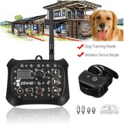 2 in 1 Wireless Dog Fence Training Containment System Transmitter + 1 Receiver