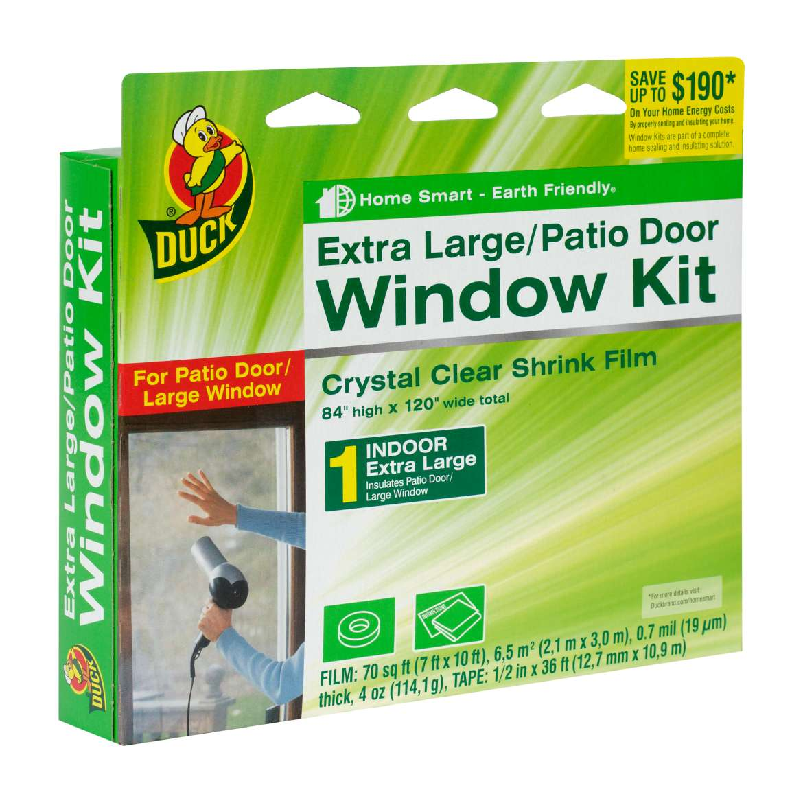Duck Brand Shrink Window Kit, Extra Large Patio Door