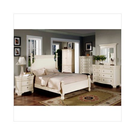 Wildon Home Bayle 5 Piece Bedroom Set In Whitewash
