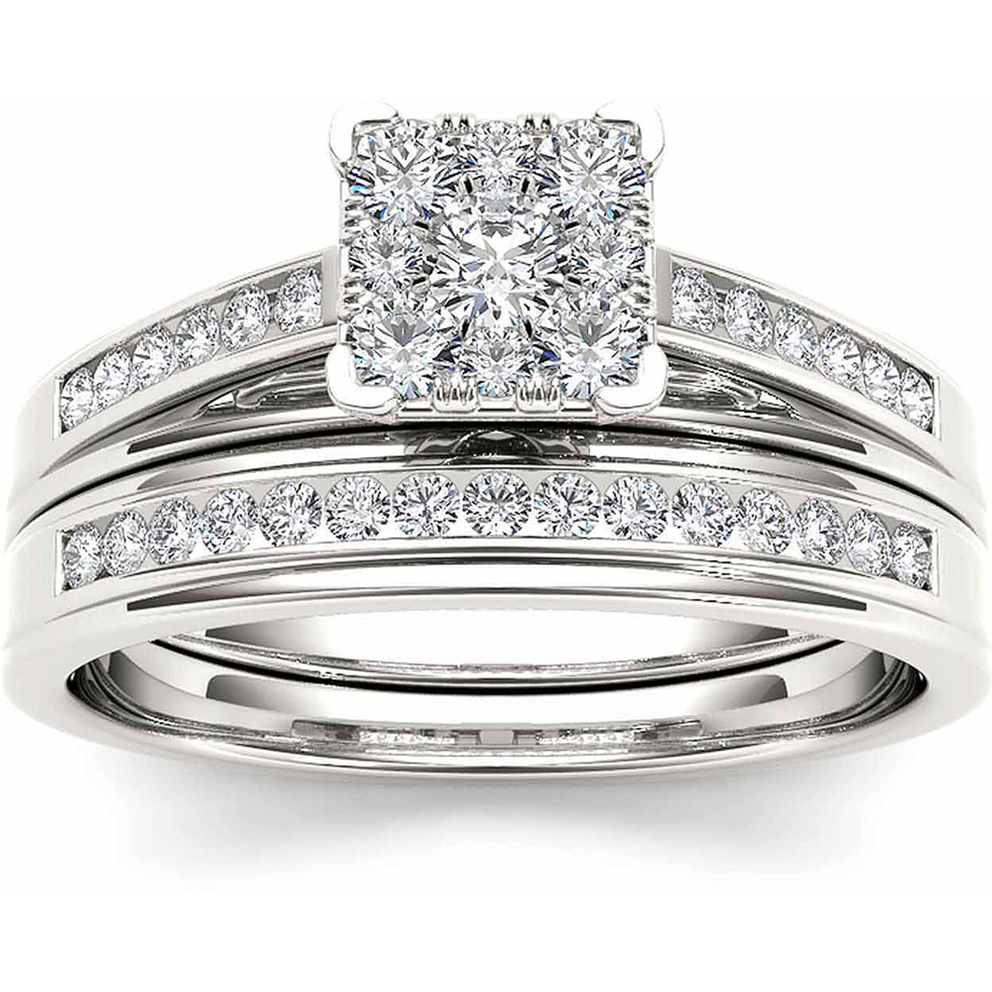 diamond ip gold cluster wedding imperial set carat rings ring w walmart engagement white com t