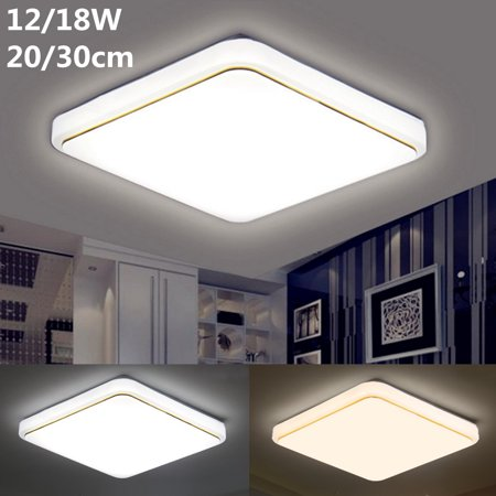 12/18W Modern LED Square Ceiling Down Light Flush Mount Light Home Bedroom Kitchen Lamp Mounted Home Fixture Lamp - image 1 of 7