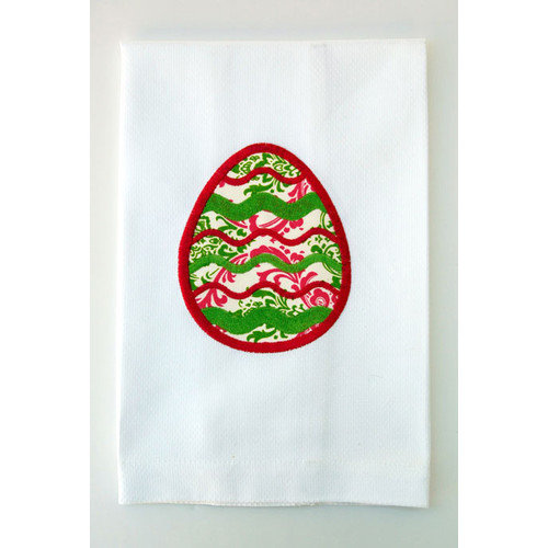 Samantha Grace Designs Egyptian Cotton Huck Holiday Applique Easter Egg Hand Towel