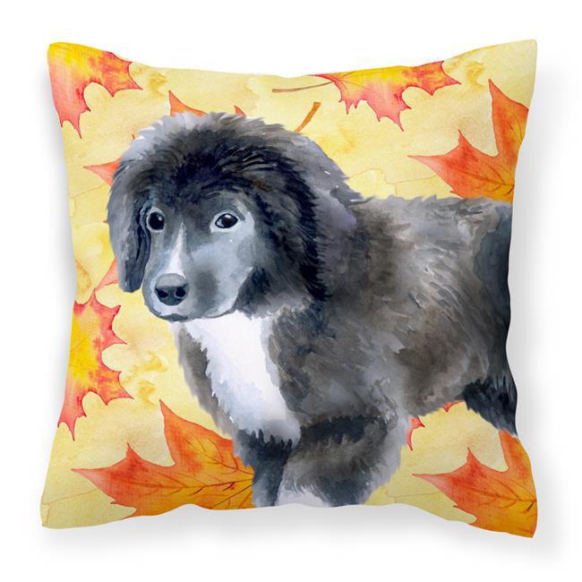 Carolines Treasures BB9960PW1818 Newfoundland Puppy Fall Fabric Decorative Pillow - image 1 of 1