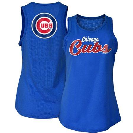 cheaper 18457 40c91 Chicago Cubs New Era Women's Mesh Back Baby Jersey Tank Top - Royal