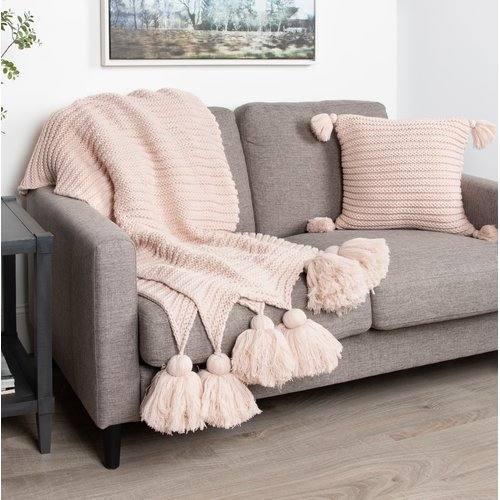 August Grove Dorcheer Chunky Ribbed Knit Throw Blanket