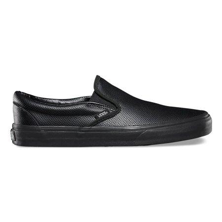 VANS - Womens Vans Classic Slip On Perf Leather Black VN-018DGKA -  Walmart.com e134d3149e