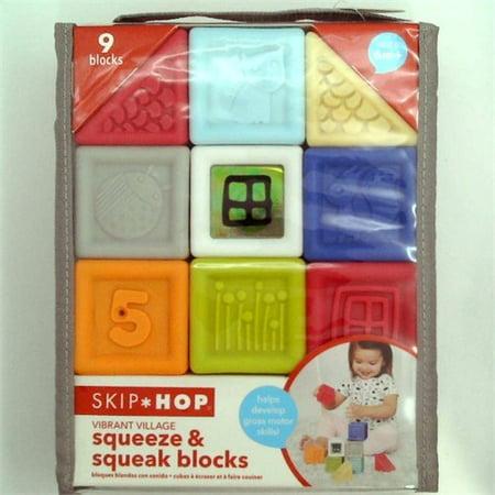 Skip Hop Vibrant Village Squeeze & Squeak Blocks (Skip Hop Vibrant Village Shake & Giggle Dog)