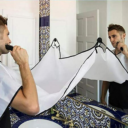 Beard Apron For Man Shaving & Hair Clippings Catcher Grooming Cape Apron Stop Clogging & Keep Sink Clean