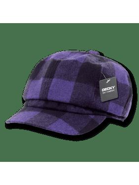 fef06ad0e7d Product Image DECKY Newsboy Ivys Plaid Hat Cap Drivers Cabbie Gatsby For Men  Women Purple Plaid