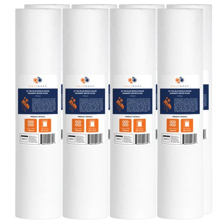 8PK of Big Blue Whole House 1 Micron 20 x 4 5 Sediment Water Filter C